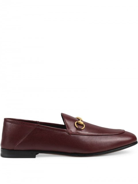 Gucci - Brixton leather Horsebit loafer - women - Leather/metal - 36, 37, 38.5, 39, 36.5, 37.5, 38, 40, 41, 34.5, 35.5, 39.5, 40.5, 35, 42 - Red