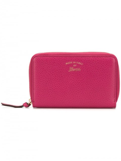 Gucci - zip around wallet - women - Calf Leather - One Size - PINK