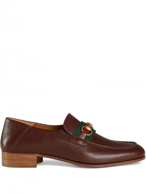 Gucci - Leather Horsebit loafer - men - Leather/metal/Leather - 11, 9,5, 10, 9, 7, 6, 7,5, 8 - Brown