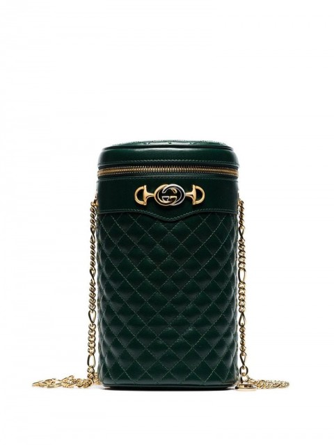 Gucci - cylindrical quilted belt bag - women - Leather - M, S - Green