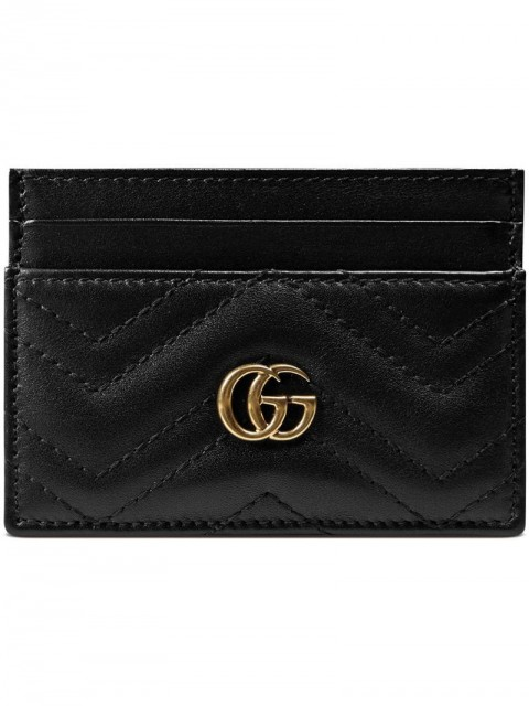Gucci - Marmont cardholder - women - Leather - One Size - Black