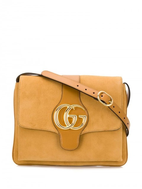 Gucci - Arli shoulder bag - women - Calf Suede - One Size - Neutrals