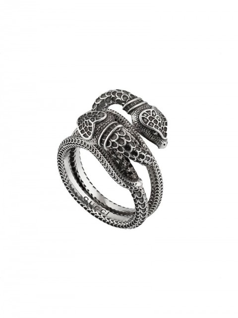 Gucci - Gucci Garden snakes ring - women - Sterling Silver - 62, 55, 61, 59, 57, 60, 58 - Metallic