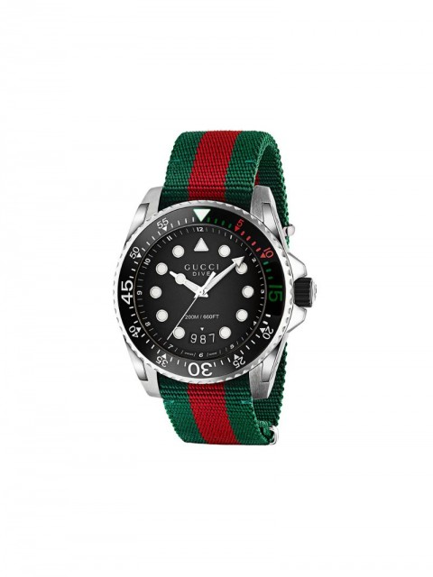 Gucci - Gucci Dive watch - men - stainless steel/Nylon - One Size - Green