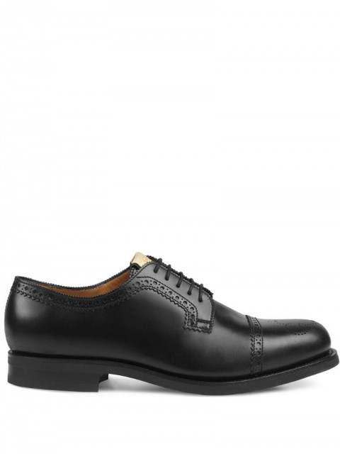 Gucci - perforated leather brogues - men - Leather/Rubber - 6, 7, 8, 9, 10, 11, 12, 8,5, 10,5, 5, 7,5 - Black