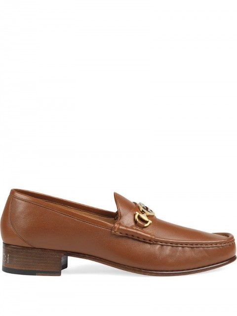 Gucci - leather loafers with Interlocking G Horsebit - men - Leather - 5, 6, 7, 7,5, 8, 8,5, 9, 10, 11 - Brown