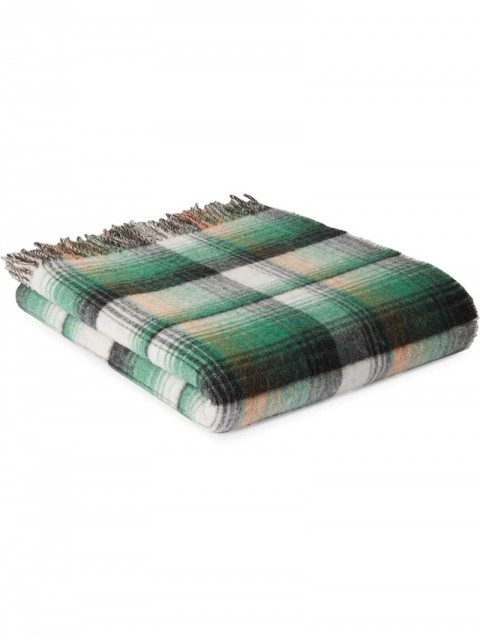 Gucci - GG and check throw blanket - unisex - Wool - One Size - Green