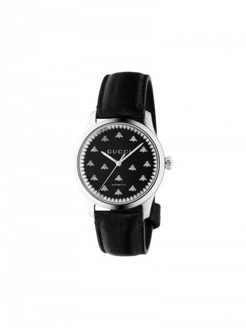 Gucci - G-Timeless watch 42mm - men - Leather - One Size - Black