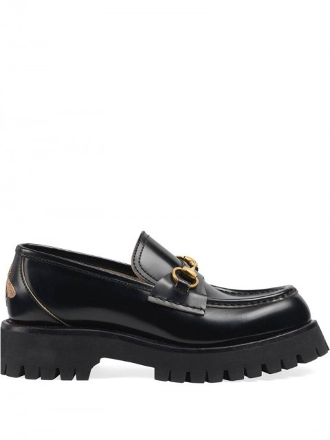 Gucci - Leather lug sole loafers - women - Leather/Rubber - 38.5, 39, 39.5, 37, 37.5, 38, 40, 42 - Black