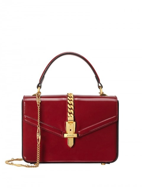 Gucci - Sylvie 1969 top handle - women - Patent Leather/Leather - One Size - Red