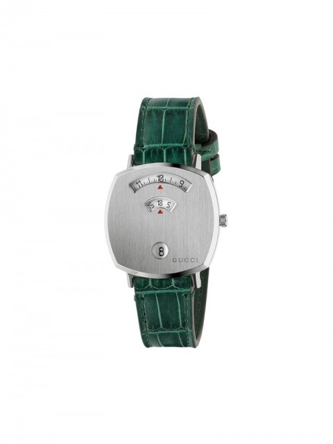 Gucci - Grip 38mm - women - stainless steel/Crocodile Leather - One Size - Green