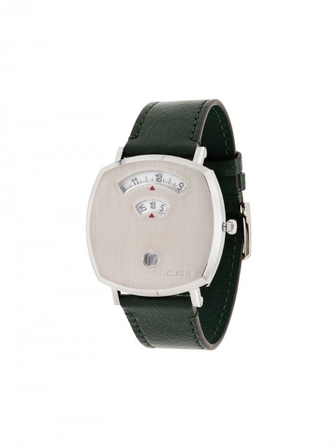 Gucci - Grip 35mm watch - men - Calf Leather/stainless steel/glass - One Size - Green