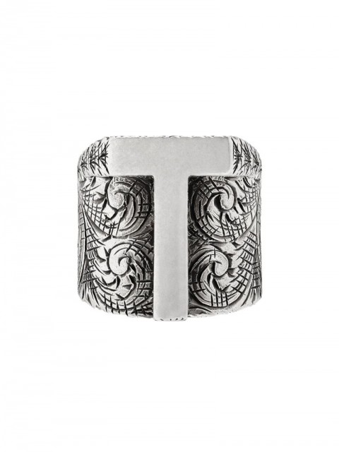 Gucci - T letter ring - unisex - Sterling Silver - 56, 53, 59, 63 - SILVER