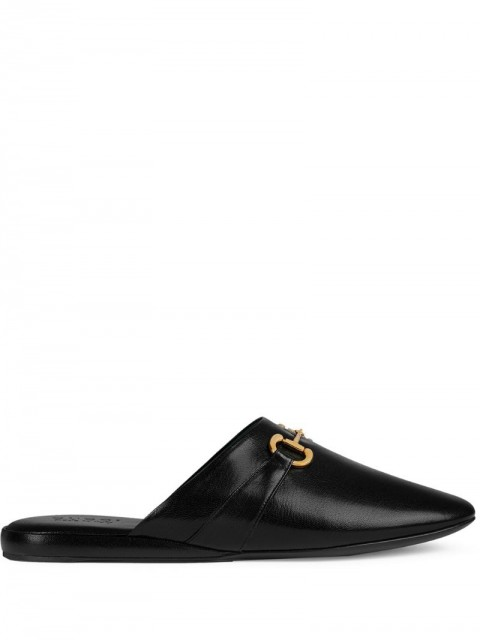 Gucci - round-toe slippers - men - Leather/Suede - 8, 6, 5, 7, 7,5 - Black