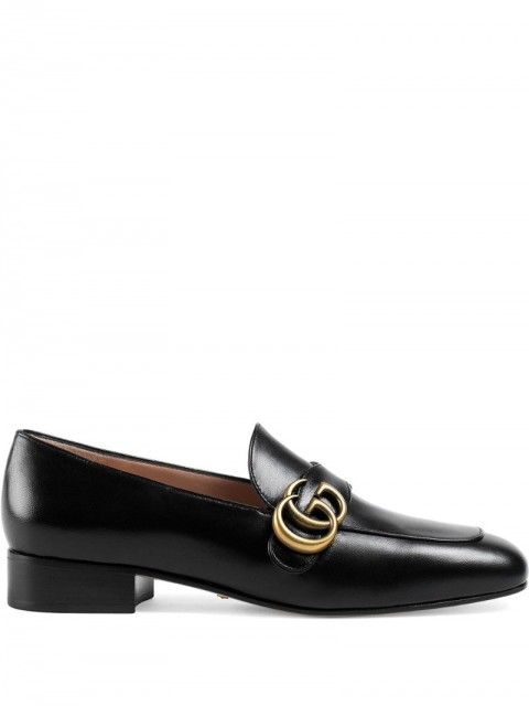 Gucci - Double G loafers - women - Leather - 37.5, 38.5, 41, 35, 36, 37, 38, 39, 40, 42, 36.5, 39.5, 40.5, 34, 35.5, 41.5 - Black