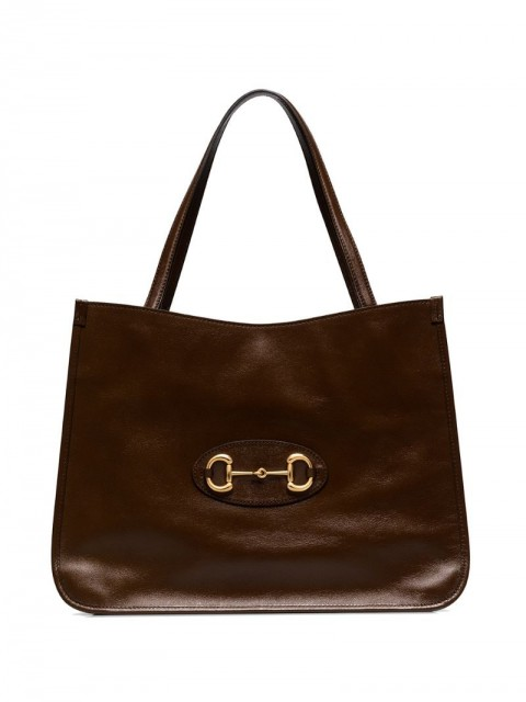 Gucci - Gucci 1955 Horsebit tote bag - women - Leather - One Size - Brown