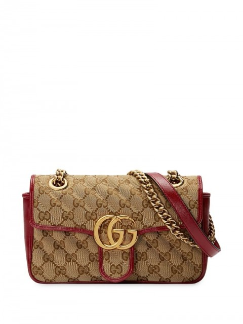 Gucci - GG Marmont matelassé mini bag - women - Leather/Canvas/metal/Microfibre - One Size - Neutrals