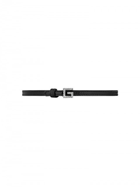 Gucci - G crystal choker - women - Leather/Crystal - One Size - Black