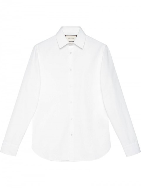 Gucci - plain shirt - men - Cotton - 15.5, 16, 16.5, 17, 17.5, 18, 15 - White