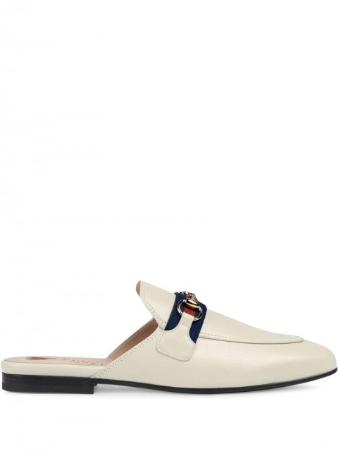 Gucci - Princetown slippers - women - Leather - 36, 37, 37.5, 38, 38.5, 39, 39.5, 40, 34, 34.5, 35, 35.5, 36.5, 41, 40.5 - White