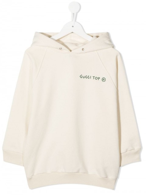 Gucci - Gucci Top printed hoodie - kids - Cotton/Polyester - 6 yrs - White