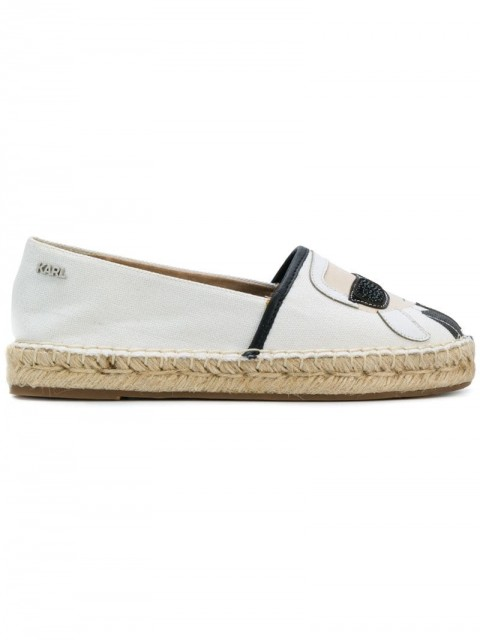 Karl Lagerfeld - Kamini Karl Ikonic espadrilles - women - Cotton/Rubber/Leather - 39, 40, 41 - White