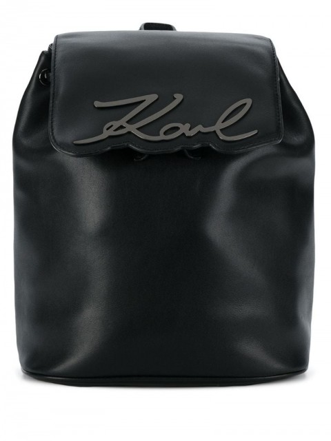 Karl Lagerfeld - K/Signature backpack - women - Leather - One Size - Black