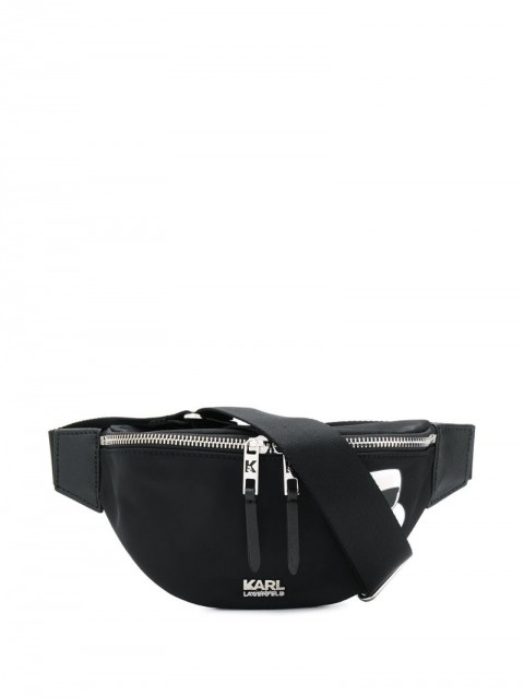 Karl Lagerfeld - K/Ikonik belt bag - unisex - Polyamide - One Size - Black