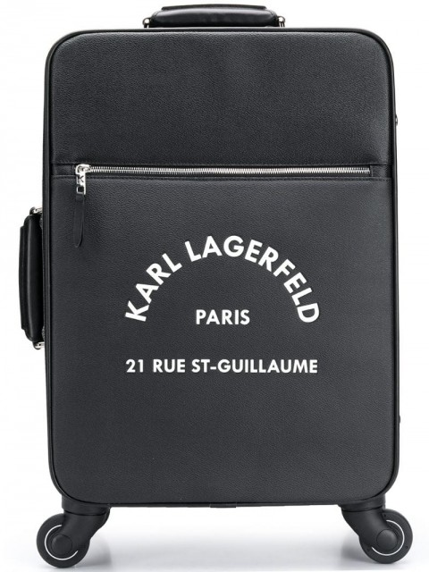 Karl Lagerfeld - Rue St Guillaume trolley - unisex - Leather/PVC - One Size - Black