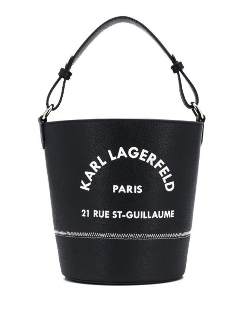 Karl Lagerfeld - Rue St Guillaume bucket - women - Leather - One Size - Black