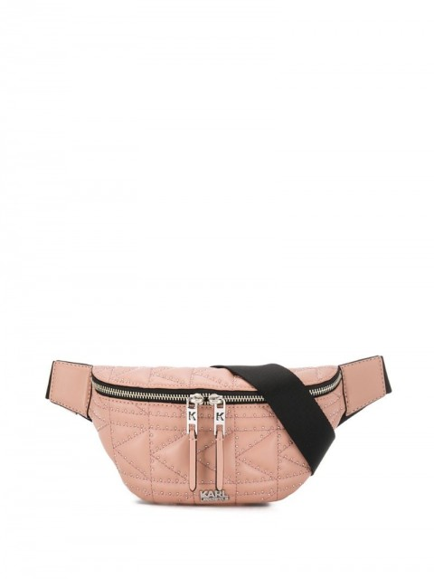Karl Lagerfeld - K/Kuilted Studs Bumbag - women - Leather - One Size - PINK