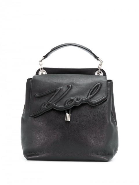 Karl Lagerfeld - K/Signature soft backpack - women - Leather - One Size - Black