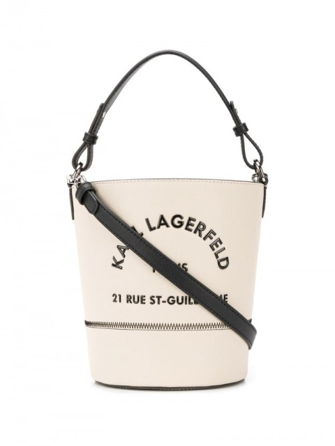 Karl Lagerfeld - Rue St Guillaume bucket bag - women - Calf Leather - One Size - Neutrals