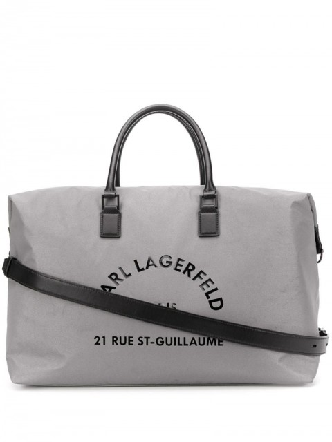 Karl Lagerfeld - Rue St Guillaume weekend bag - unisex - Leather/Polyamide - One Size - SILVER