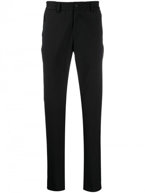 Karl Lagerfeld - Clash straight-leg trousers - men - Polyester/Virgin Wool - 46, 48 - Black