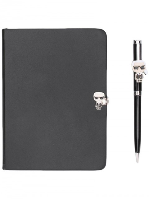 Karl Lagerfeld - journal and pen set - women - Paper/Polyurethane/metal - One Size - Black