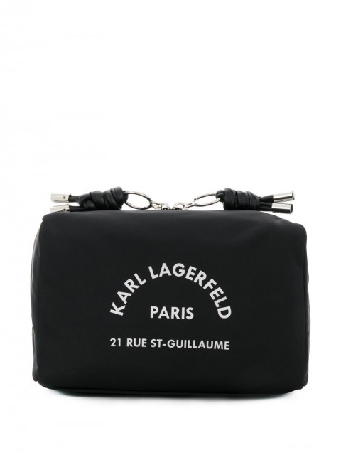 Karl Lagerfeld - Rue St Guillaume washbag - women - Leather/Polyamide - One Size - Black