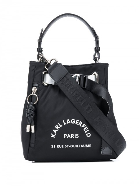 Karl Lagerfeld - Rue St Guillaume bucket bag - women - Polyamide/Leather - One Size - Black