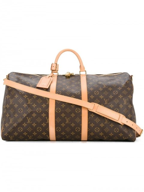 Louis Vuitton - pre-owned Keepall 55 Bandouliere bag - women - Leather - One Size - Brown