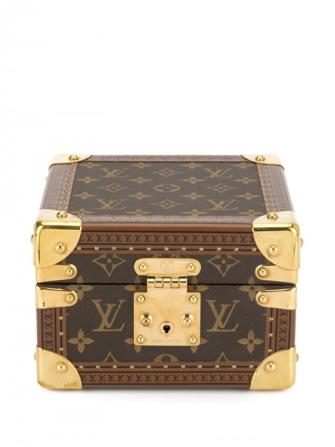 Louis Vuitton - pre-owned logo print watch case - women - Leather - One Size - Brown