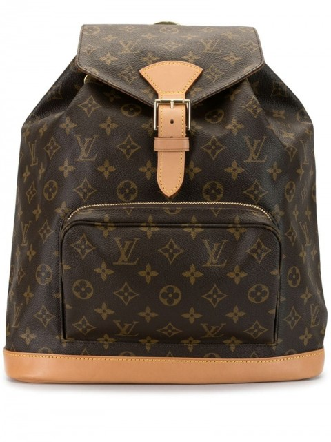Louis Vuitton - 2001 Montsouris backpack - women - Leather/PVC - One Size - Brown