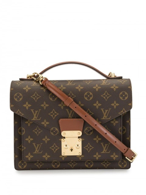 Louis Vuitton - 2001 pre-owned Monceau 28 two-way bag - women - Canvas - One Size - Brown