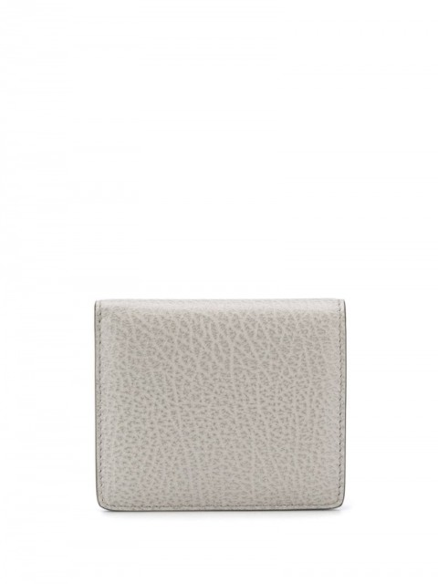 Maison Margiela - stitch detail wallet - women - Calf Leather - One Size - Grey
