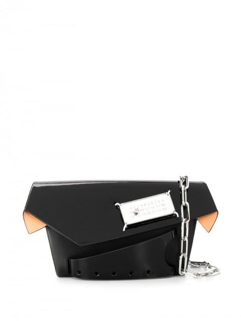 Maison Margiela - small Snatched bag - women - Calf Leather/Polyester - One Size - Black