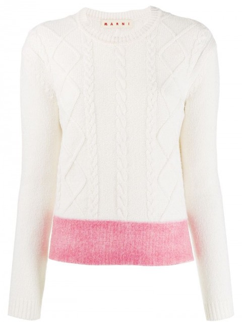 Marni - cable knit jumper - women - Wool - 44, 42 - White
