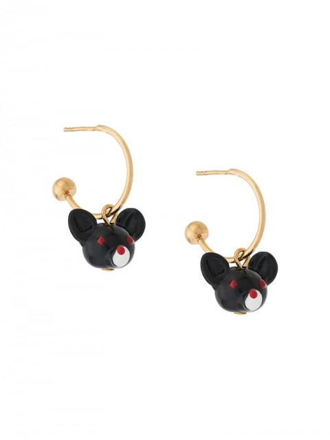 Marni - Chinese New Year 2020 Rat earrings - women - Acrylic/Resin/metal - One Size - Black