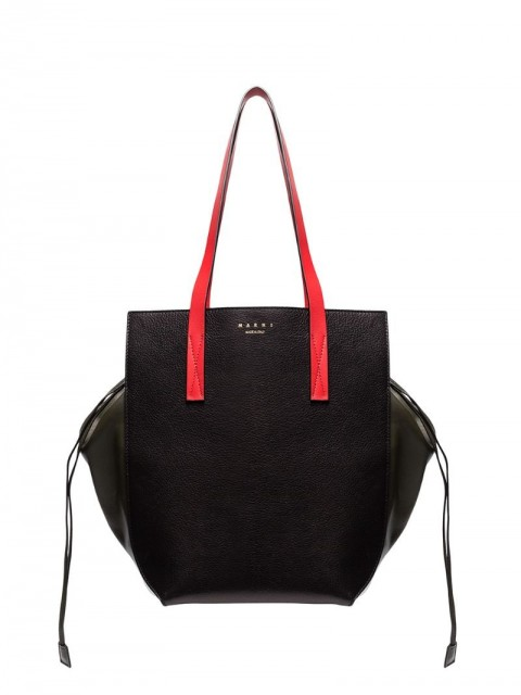 Marni - Gusset oversized tote - women - Leather - One Size - Black