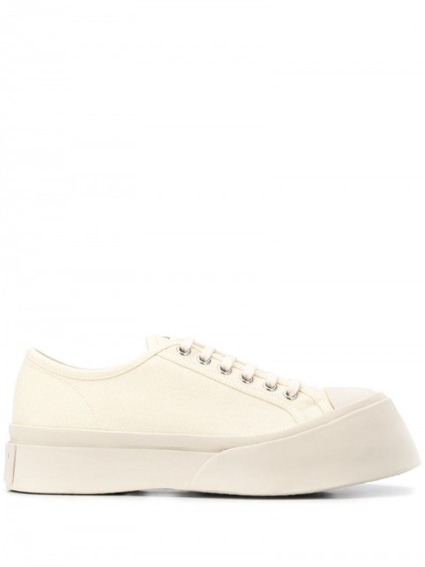 Marni - Pablo low-top sneakers - women - Leather/Polyester/Rubber - 40, 39 - Neutrals