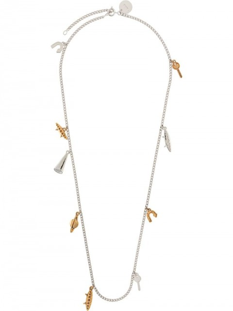 Marni - multi-charm necklace - men - metal - One Size - SILVER