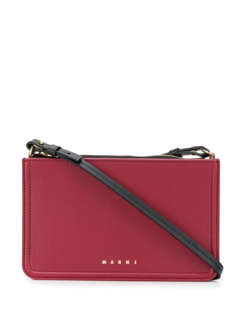 Marni - Beat crossbody bag - women - Calf Leather - One Size - Red